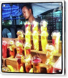 Acrylic Print featuring the photograph Smoothie Nirvana. Choose A Cup Of by Mr Photojimsf