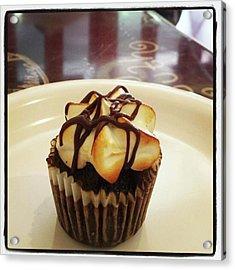 Acrylic Print featuring the photograph smore Miniature Cupcake N Coffee by Mr Photojimsf