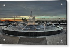 Smothers Park Fountain Acrylic Print by Wendell Thompson