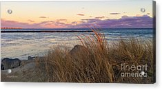 Acrylic Print featuring the photograph Smugglers Beach Sunset by Michelle Wiarda