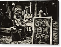 Snack Bar Open Acrylic Print by Bill Cannon