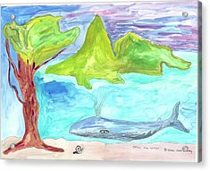 Snail And Whale Acrylic Print
