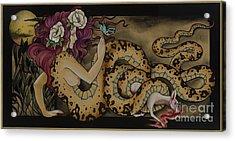 Snake Lady Acrylic Print