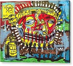 Snake Oil Salesman Acrylic Print by Robert Wolverton Jr