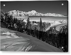 Snake River Overlook-winter Scene 79 Acrylic Print
