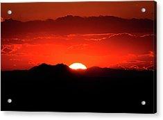 Snake River Plain Sunset Acrylic Print by Greg Norrell