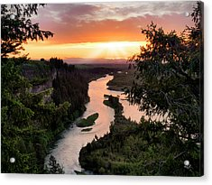 Snake River Sunset Acrylic Print by Leland D Howard
