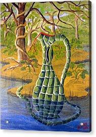 Snake Skin Pitcher Acrylic Print by Myrna Salaun