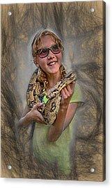 Snake Wrap Acrylic Print by John Haldane