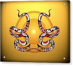 Snakes Homage To Mata Ortiz Acrylic Print by Tony Ramos