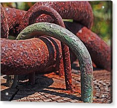 Snaking Rust  Acrylic Print by Rona Black
