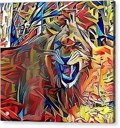 Snarling Lion Acrylic Print
