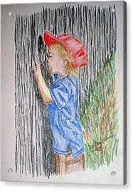 Sneak Peek Acrylic Print by Arlene  Wright-Correll
