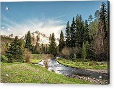 Sneffels And Spring Stream Acrylic Print