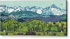 Sneffels Range Spring Acrylic Print