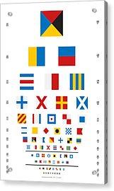 Snellen Chart - Nautical Flags Acrylic Print by Martin Krzywinski