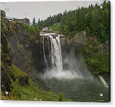 Snoqualmie Falls From Above Acrylic Print by Allen Sheffield