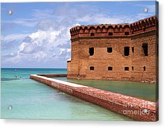 Acrylic Print featuring the photograph Snorkelers Fort Jefferson by Steven Frame