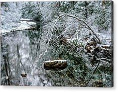 Snow Along Cranberry River Acrylic Print by Thomas R Fletcher