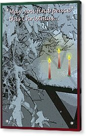 Snow And Candlelight Acrylic Print
