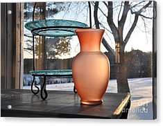 Acrylic Print featuring the photograph Snow And Glass by John Black