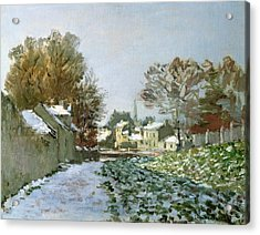 Snow At Argenteuil Acrylic Print by Claude Monet