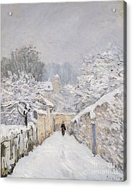 Snow At Louveciennes Acrylic Print by Alfred Sisley