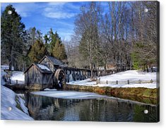 Snow At Mabry Mill Acrylic Print
