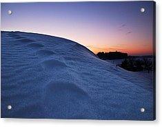 Snow Bank Acrylic Print by Hannes Cmarits