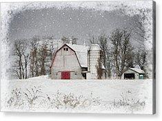 Snow Barn Acrylic Print