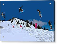 Snow Boarder Acrylic Print