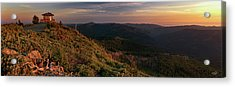 Acrylic Print featuring the photograph Snow Camp Lookout by Leland D Howard