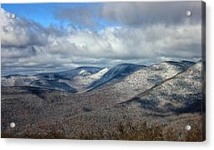 Snow-capped Catskills  Acrylic Print
