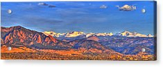 Snow-capped Panorama Of The Rockies Acrylic Print by Scott Mahon