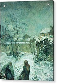 Snow, Carcel Road, 1883 Acrylic Print