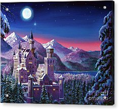 Snow Castle Acrylic Print by David Lloyd Glover