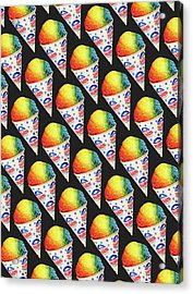 Snow Cone Pattern Acrylic Print