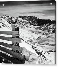 Snow Acrylic Print by Contemporary Art