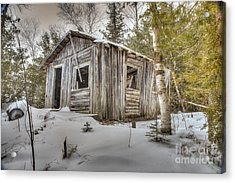 Snow Covered Abandon Cabin Acrylic Print by Patrick Shupert