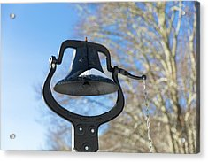 Acrylic Print featuring the photograph Snow Covered Bell by D K Wall