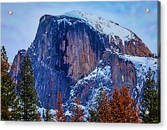 Snow Covered Half Dome Acrylic Print by Garry Gay
