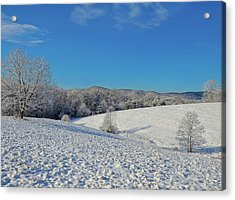 Snow Covered Pasture Acrylic Print