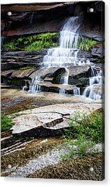 Snow Creek Cascade Acrylic Print