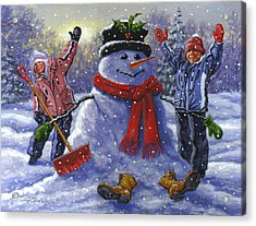 Snow Day Acrylic Print by Richard De Wolfe