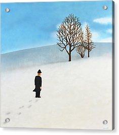 Snow Day Acrylic Print by Thomas Blood