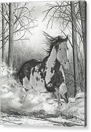 Snow Driftin' Acrylic Print