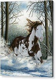 Snow Driftin', Pastel Acrylic Print