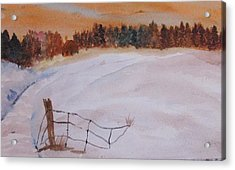 Acrylic Print featuring the painting Snow Drifts by Trilby Cole