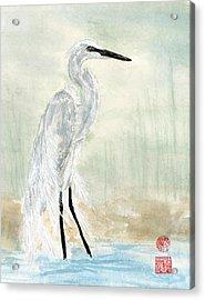 Snow Egret Acrylic Print
