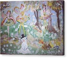 Snow Fairies Acrylic Print by Judith Desrosiers